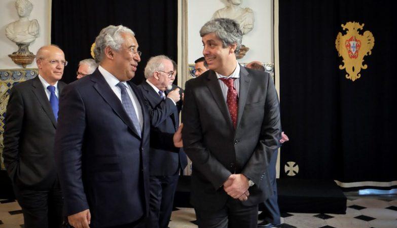 O primeiro-ministro António Costa e Mário Centeno, ministro das Finanças