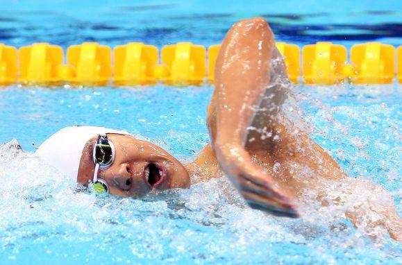 A nadadora síria Yusra Mardini,