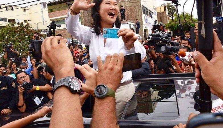 A candidata a presidente do Peru, Keiko Fujimori Higuchi, filha do ex-presidente Alberto Fujimori,