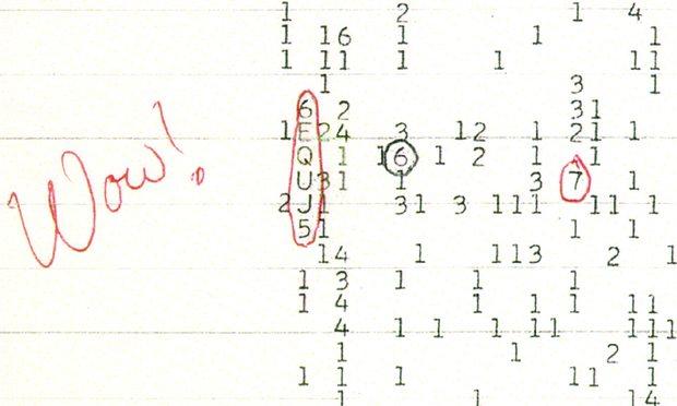 O sinal Wow, a única prova de vida extra-terrestre inteligente?