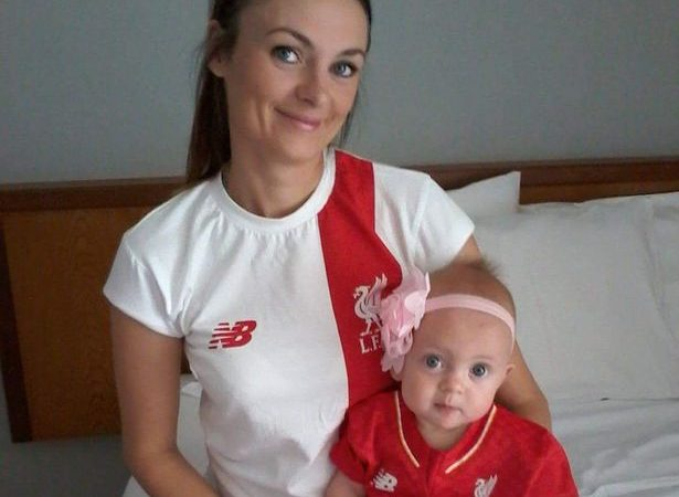 Christine Davies e a filha Ruby