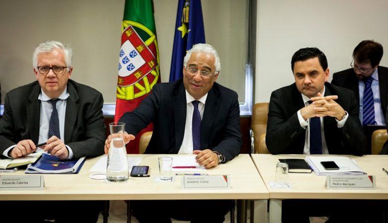 Primeiro-Ministro António Costa e Ministros Adjunto, Eduardo Cabrita, e do Planeamento e Infraestruturas, Pedro Marques
