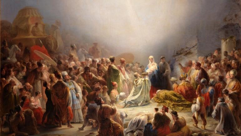 """""""Adoração dos Magos"""", de Domingos Sequeira"""