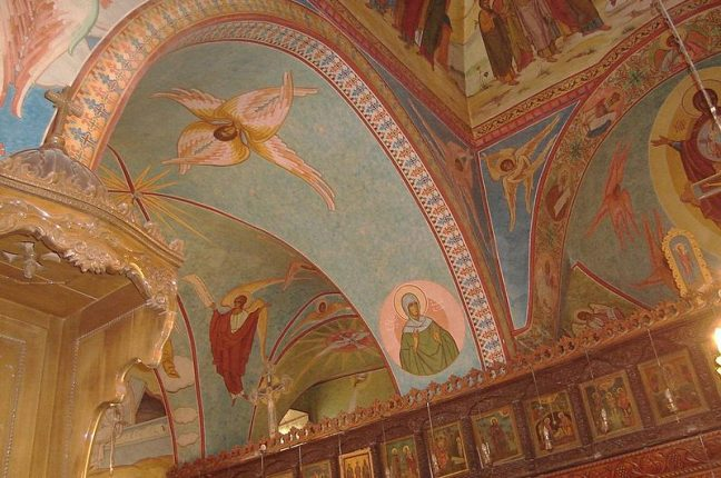 Frescos na Igreja de Mar Elian, em Al-Qaryatain (Homs, Síria)