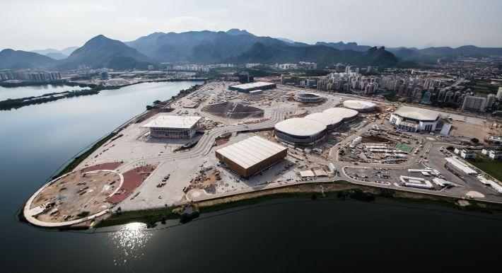Vila Olímpica, localizada na Barra da Tijuca, no Rio de Janeiro