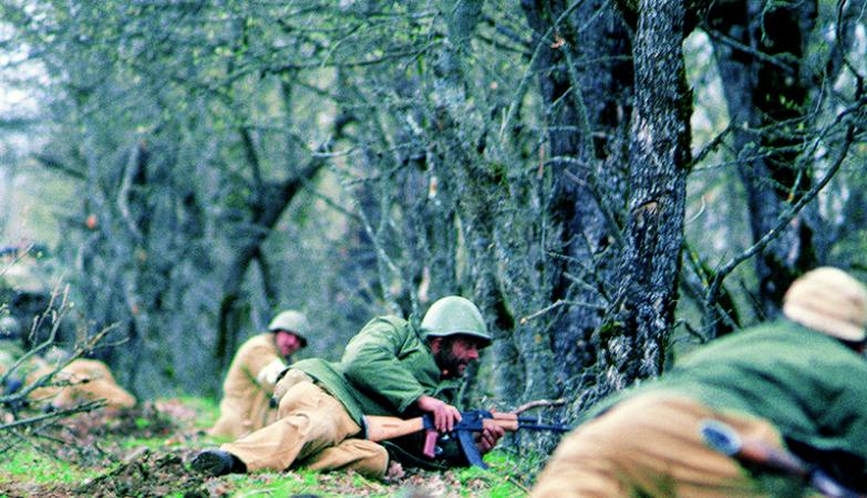 Soldados arménios no Nagorno-Karabakh em 1994