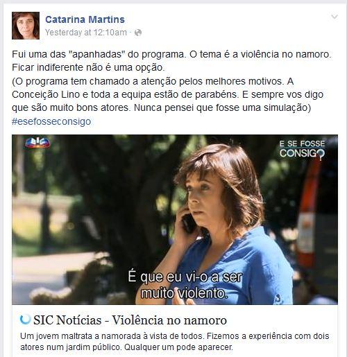 Catarina Martins no E Se Fosse Consigo? da SIC