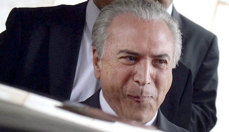 O presidente interino do Brasil, Michel Temer
