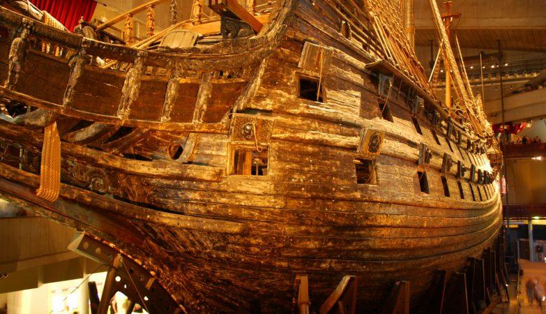 O navio de guerra Vasa, exposto no Museu Marítimo de Estocolmo, na Suécia