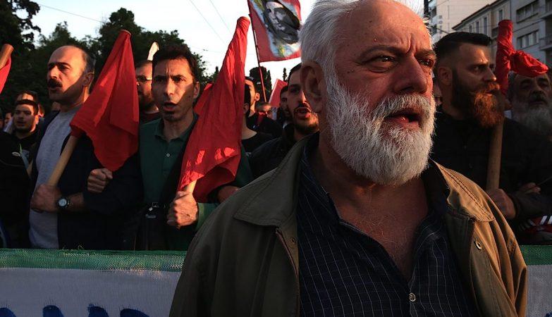 Manifestação em Atenas contra a reforma das pensões e aumento de impostos