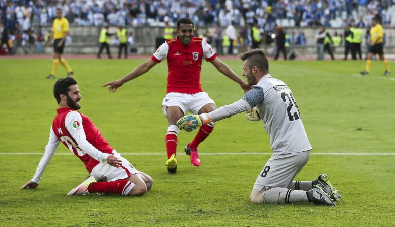Rafa, Marcelo Goiano e Marafona celebram a vitória do Braga na Taça de Portugal
