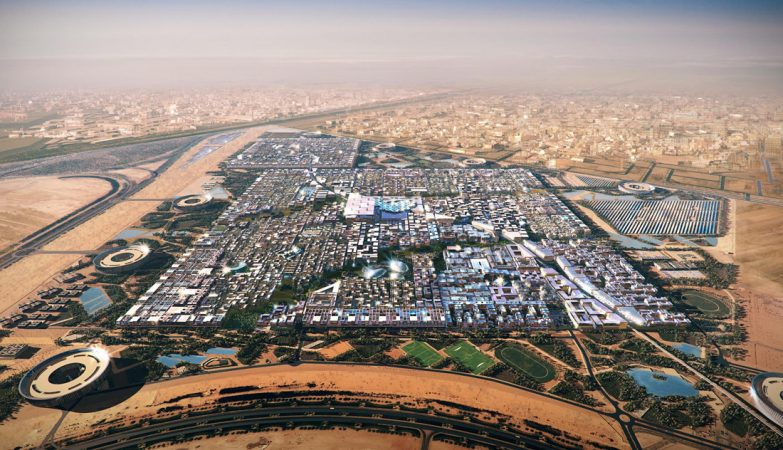 Vista aérea de Masdar