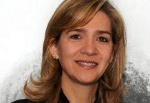 A infanta Cristina de Borbón, filha do Rei Juan Carlos de Espanha