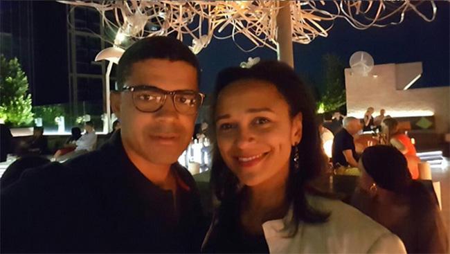 Isabel dos Santos e o marido Sindika Dokolo no Dubai.