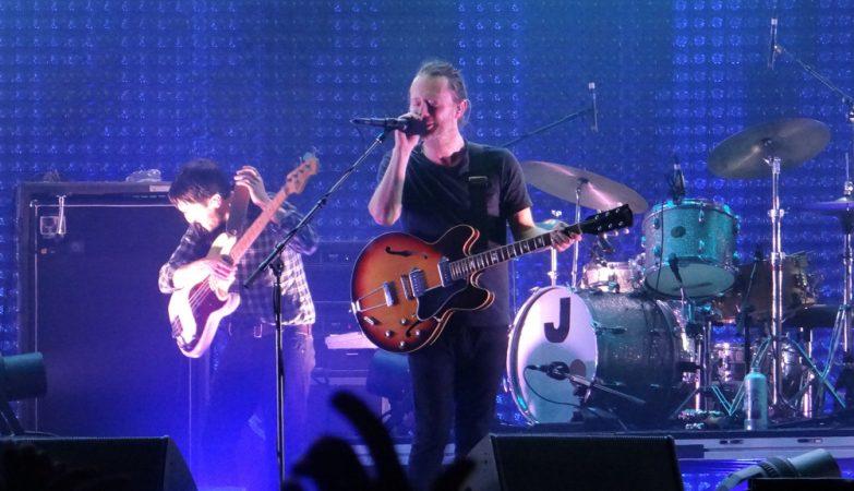Radiohead ao vivo em 2012 em Udine, Itália