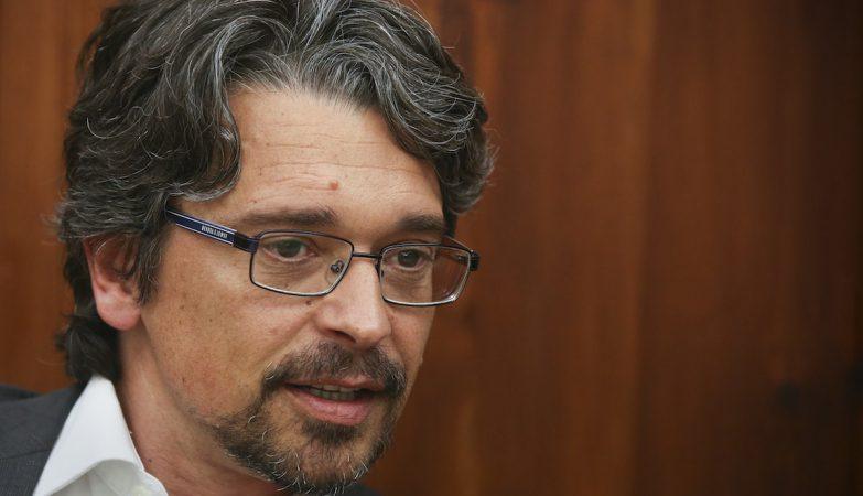 O Diretor de Informação da TVI e da TVI24, Sérgio Figueiredo, durante a sua audição na Comissão Parlamentar de Inquérito ao Banif