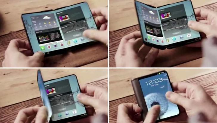 Samsung Galaxy X com ecrã desdobrável