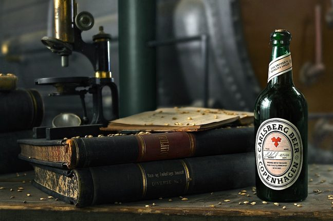 Investigadores da Carlsberg descobriram, nas antigas caves da empresa em Copenhaga, uma das primeiras garrafas feitas a partir da levedura original de 83. Uma levedura jurássica!