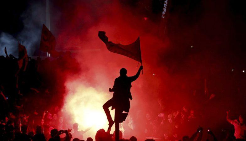 Festa do 35º título do Benfica no Marquês