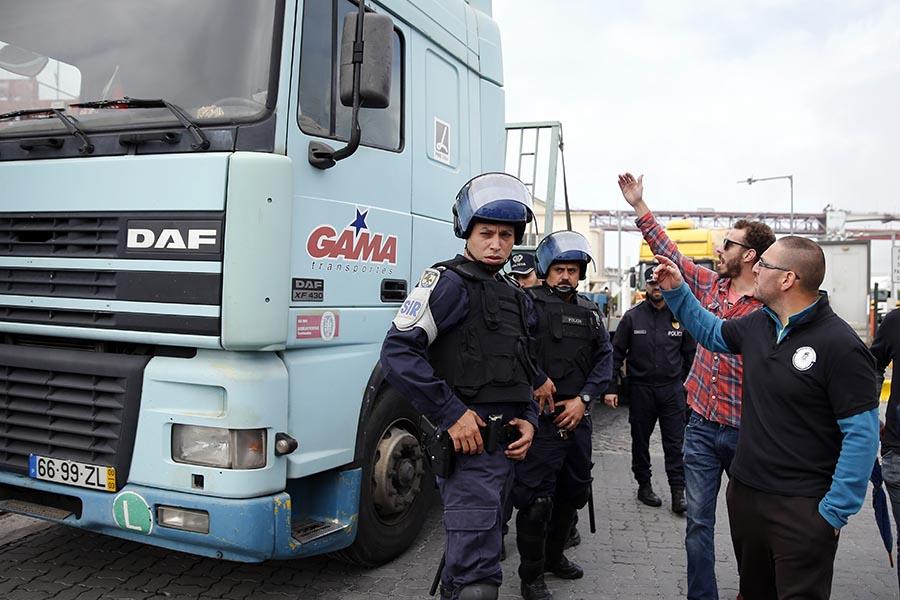 Greve dos Estivadores no Porto de Lisboa