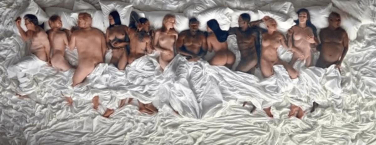 Famous, Kayne West na cama com os famosos