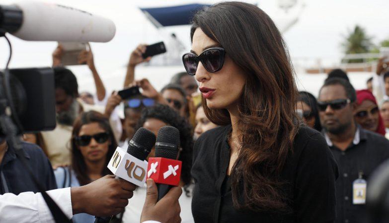 A advogada e activista de direitos humanos Amal Clooney, mulher do actor George Clooney