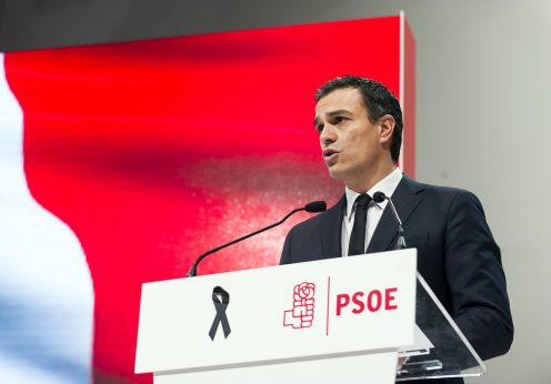 Pedro Sánchez, líder do PSOE