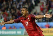 Nani marcou o golo de Portugal frente à Islândia