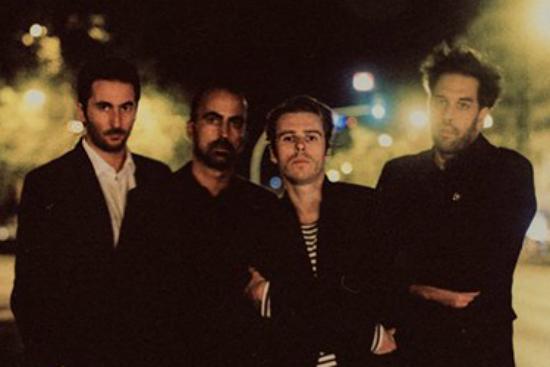 Bruno Pedro Simões (à direita) com a banda Sean Riley & The Slowriders