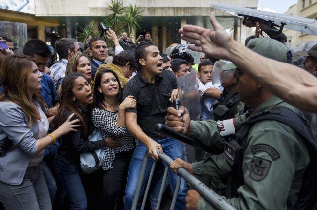 Protestos pelo referendo na Venezuela