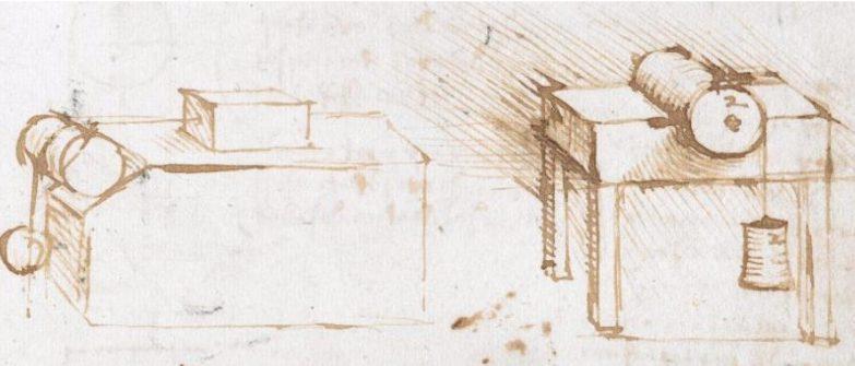 Os diagramas de Da Vinci demonstravam afinal experiências sobre a medição da fricção