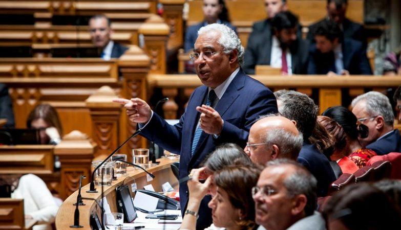 O Primeiro-Ministro António Costa durante o debate quinzenal na Assembleia da República