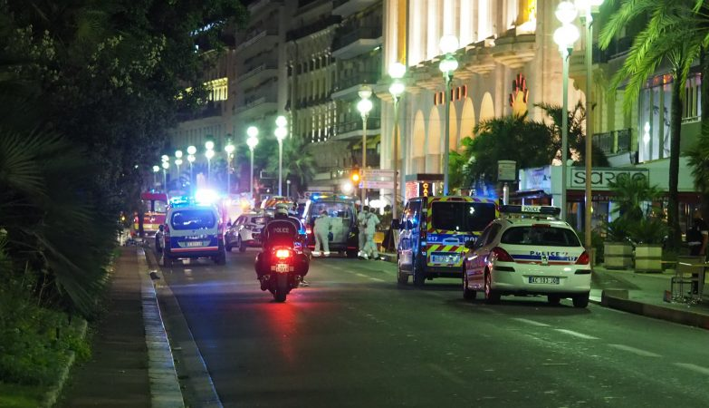 A Promenade des Anglais, em Nice, após o atentado desta quinta-feira