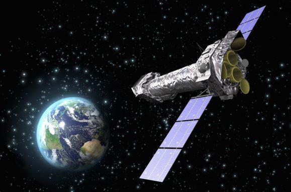 Impressão de artista do XMM-Newton da ESA.
