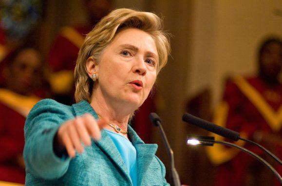 A senadora Hillary Clinton, ex-vice-presidente de Barack Obama, ex-primeira-dama dos EUA, agora candidata a presidente