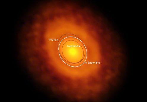 Explosão da estrela V883 Orionis levou ao fenómeno