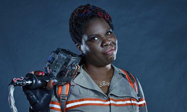 A atriz Leslie Jones, que interpreta a personagem Patty no remake do filme Ghostbusters