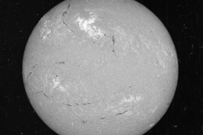 Uma imagem do Sol no dia 23 de maio de 1967
