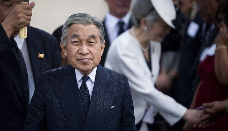 O imperador do Japão, Akihito, numa cerimónia com a imperatriz Michiko em 2009