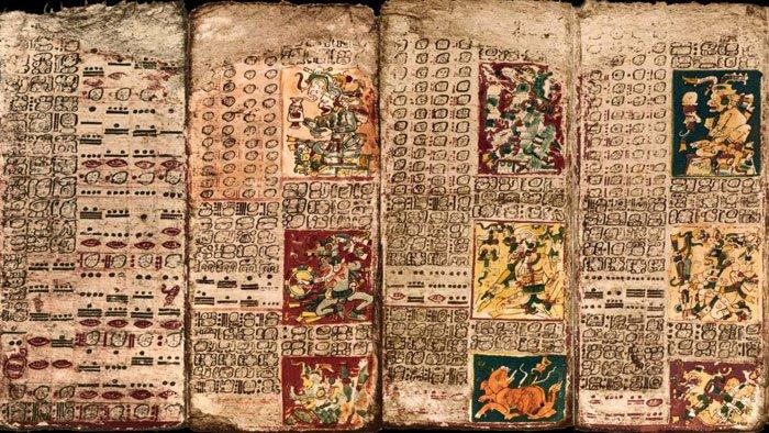 """A """"Tabela de Vénus"""", no livro maia conhecido como o """"Códice de Dresden"""""""