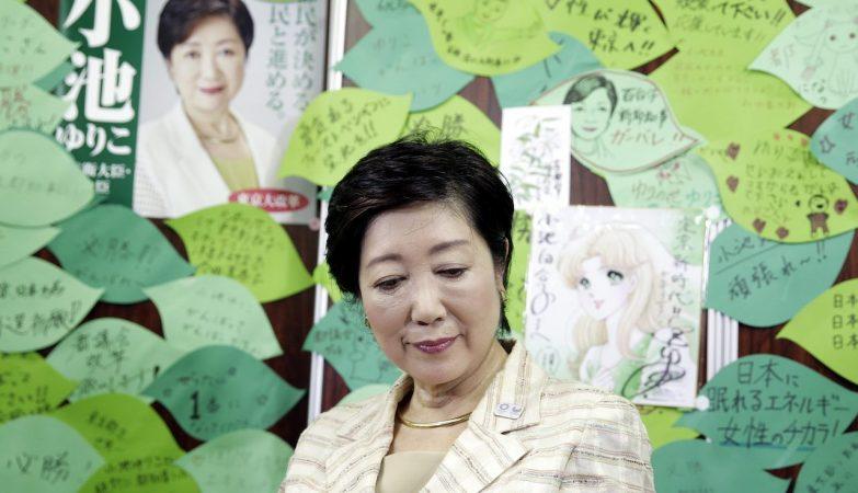 A antiga Ministra da Defeesa do Japão, Yuriko Koike, é a nova governadora da cidade de Tóquio
