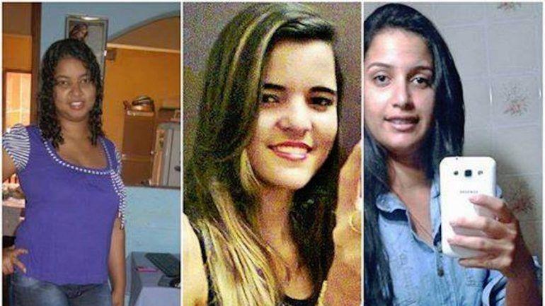 Michelle Santana Ferreira, a sua irmã, Lidiana Neves Santana, e uma amiga desta, Thayane Mendes Dias
