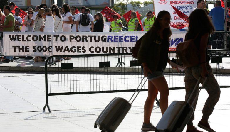 Funcionários de segurança privada dos aeroportos em greve