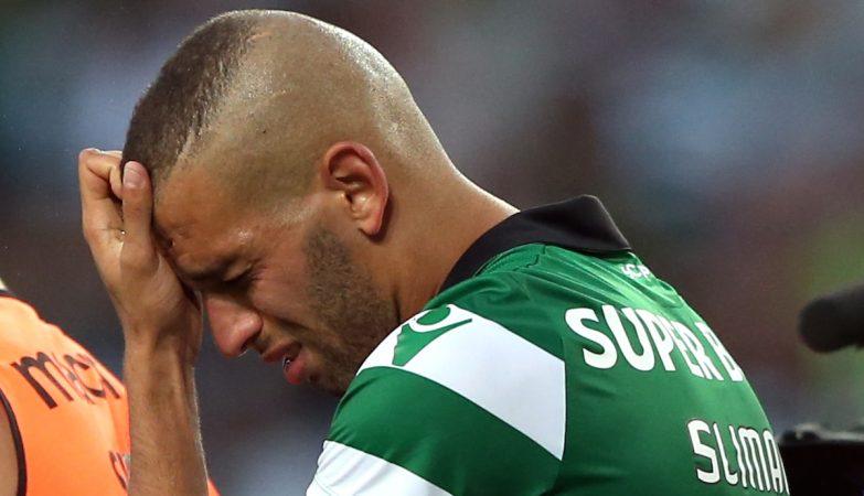 A caminho de Inglaterra, Islam Slimani despediu-se do Sporting em lágrimas