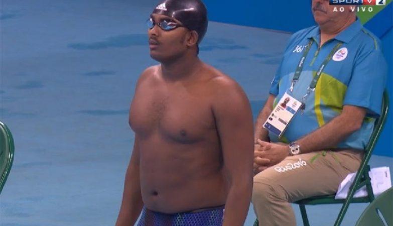 O nadador Robel Kiros Habte, da Etiópia, nos Jogos Olímpicos do Rio 2016