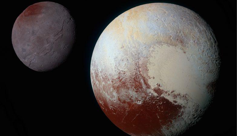 """Plutão """"coloriu"""" a sua maior lua"""