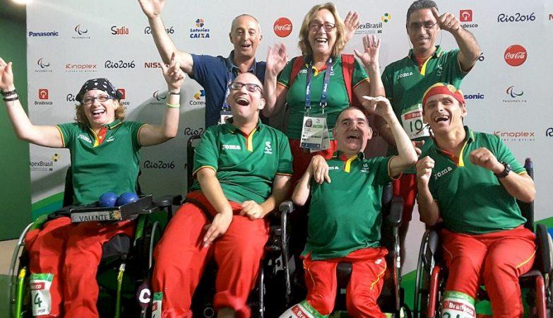 A equipa portuguesa de boccia BC1/BC2 conquistou a medalha de bronze nos Paralímpicos do Rio de Janeiro