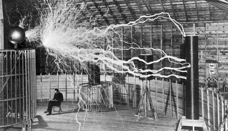 Laboratório de Tesla em Colorado Springs, em 1900