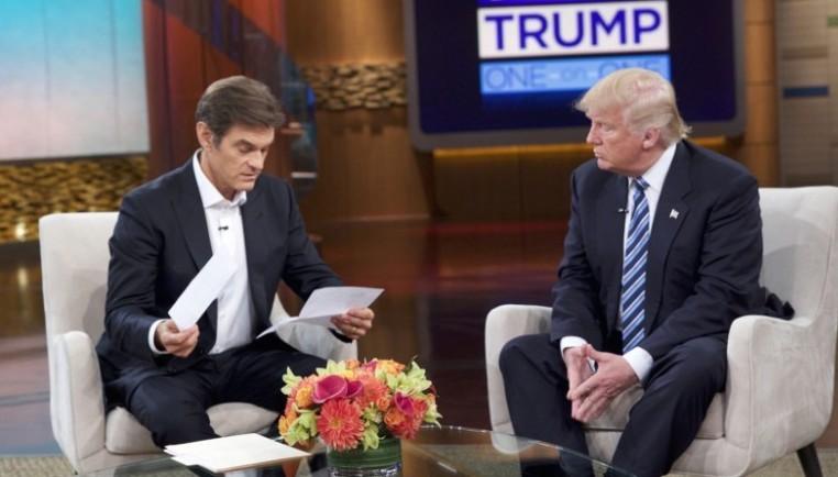 O candidato republicano Donald Trump foi até ao famoso programa do Dr. Oz para provar que está de boa saúde