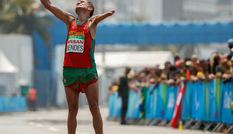 O português Manuel Mendes terminou em terceiro lugar na classe T46 a Maratona dos Jogos Paralímpicos